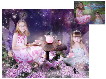 Fairy tea party photo - What little girl doesn't dream of being a Fairy? A truly magical scene.