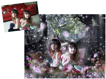 Fairy Glade Magical Photo Portrait - Beautifully enchanting fantasy background, immersed in Fairies and sparkles!