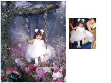 Fairyswing Magical Photo Portrait - Beautifully enchanting theme to make any little girls dreams come true!