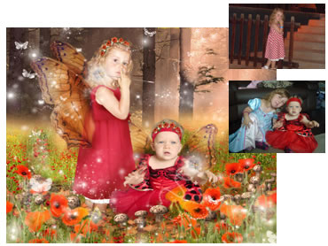 Poppy Fairy Magical Portrait - What little girl doesn't dream of being a Fairy? A truly magical scene.