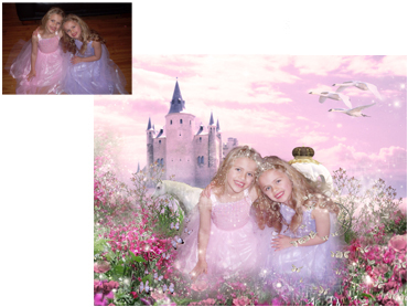 Princess For A Day Magical Photo Portrait - Perfect for any little girl who dreams of being a Princess!