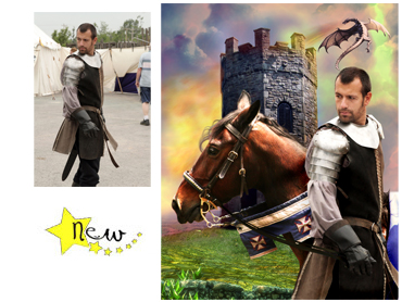 Brave Knight Magical photo Portrait - A great theme for Fathers Day for your very own Knight in shining armour!