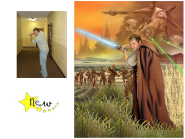 Star Wars Magical Photo Portrait - A perfect idea for any Star Wars fan - great gift for Fathers Day!